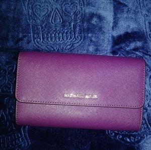 Michael Kors Purple Wallet / Clutch / Crossbody